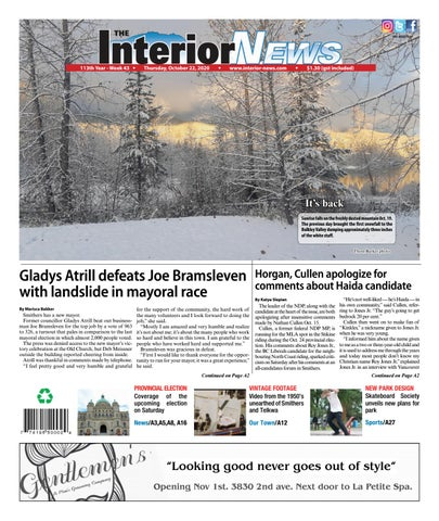 Smithers Interior News, October 22, 2020