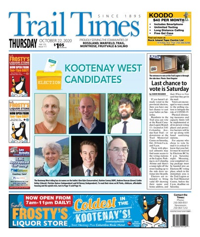 Trail Daily Times/West Kootenay Advertiser, October 22, 2020