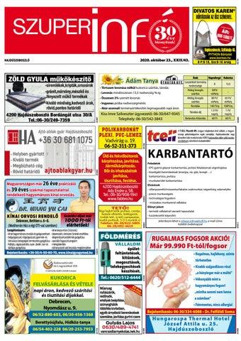 Hajduszoboszlo 2020.10.23
