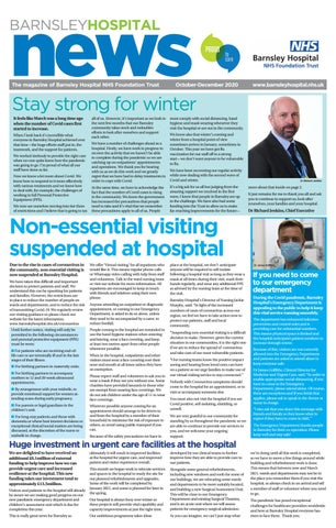 Front Cover Image for Barnsley Hospital News