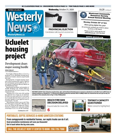 Tofino-Ucluelet Westerly News, October 21, 2020