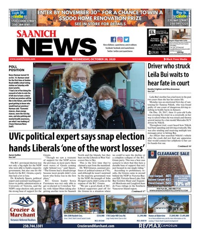 Saanich News, October 28, 2020