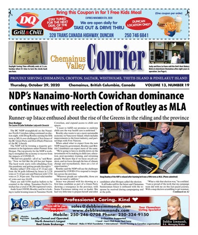 Chemainus Valley Courier, October 29, 2020
