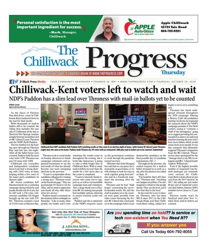 Chilliwack Progress, October 29, 2020