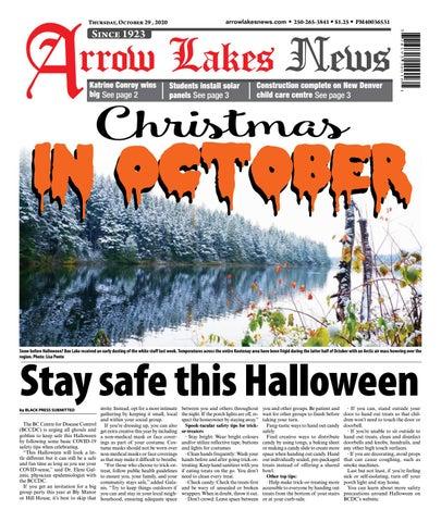 Arrow Lakes News, October 29, 2020