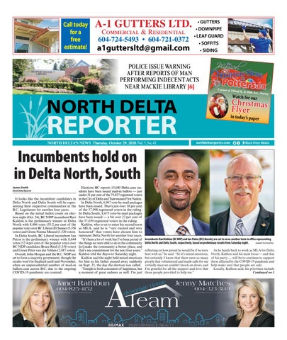 North Delta Reporter, October 29, 2020