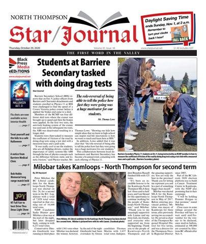 Barriere Star Journal, October 29, 2020