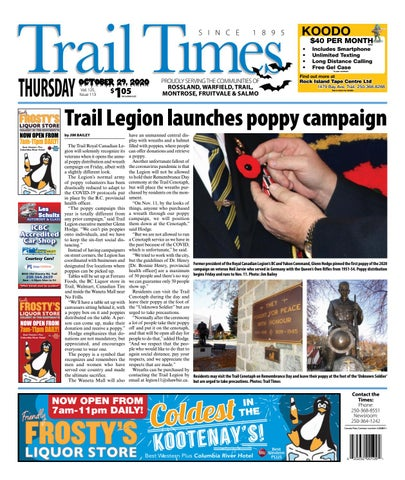 Trail Daily Times/West Kootenay Advertiser, October 29, 2020