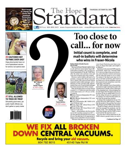 Hope Standard, October 29, 2020