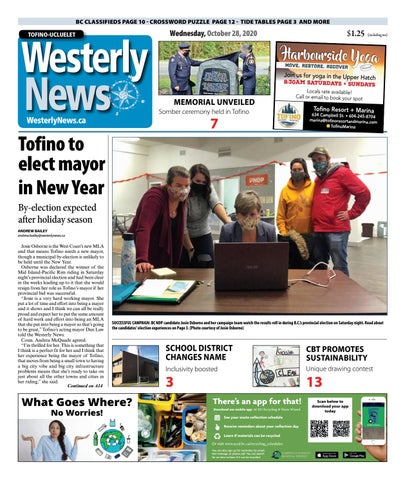 Tofino-Ucluelet Westerly News, October 28, 2020