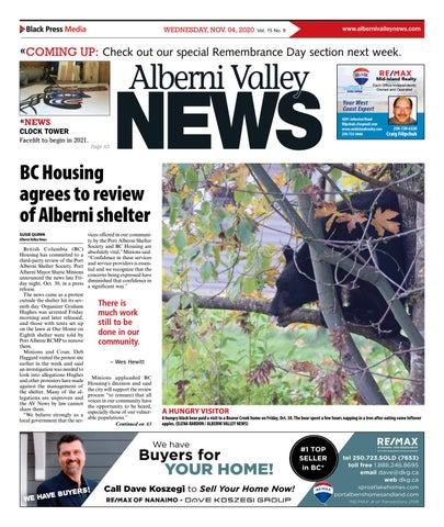 Alberni Valley News, November 4, 2020