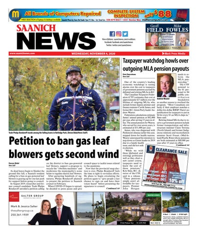 Saanich News, November 4, 2020