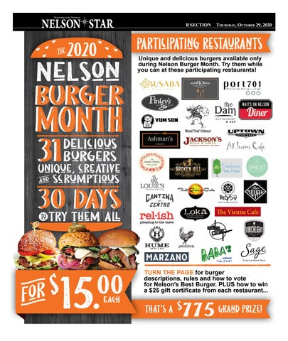 Nelson Burger Month
