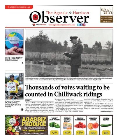 Agassiz Observer, November 5, 2020