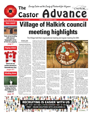 Castor Advance, November 5, 2020
