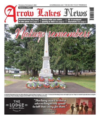 Arrow Lakes News, November 5, 2020
