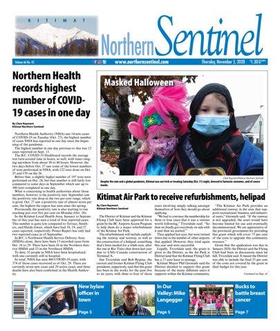 Kitimat Northern Sentinel/Northern Connector, November 5, 2020