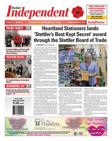 Stettler Independent, November 5, 2020