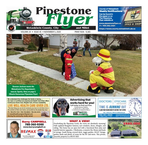 Wetaskiwin/Millet Pipestone Flyer, November 5, 2020