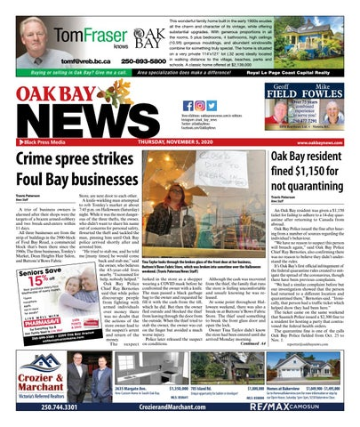 Oak Bay News, November 5, 2020
