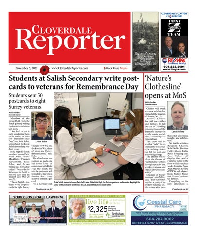 Cloverdale Reporter, November 5, 2020