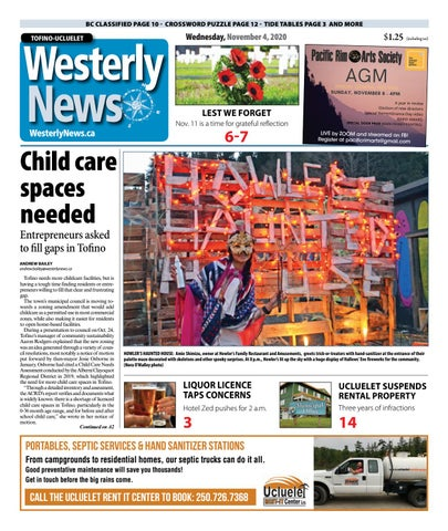 Tofino-Ucluelet Westerly News, November 4, 2020