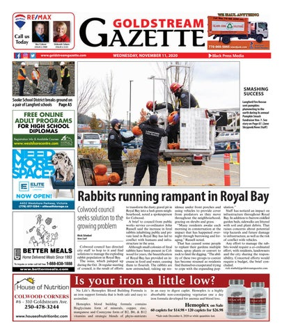 Goldstream News Gazette, November 11, 2020