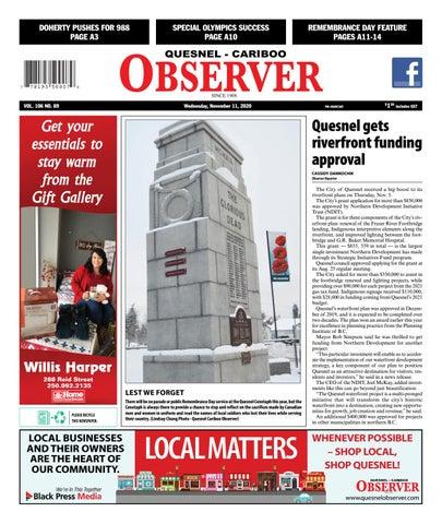 Quesnel Cariboo Observer, November 11, 2020