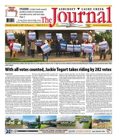 Ashcroft Cache Creek Journal, November 12, 2020