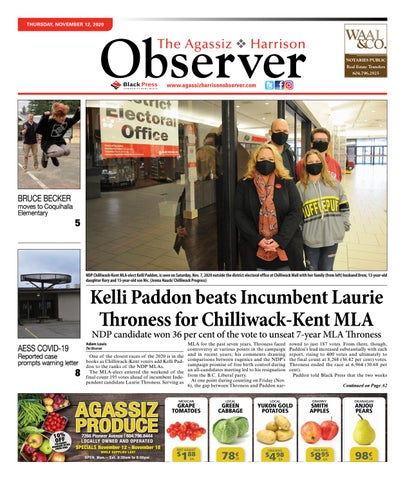 Agassiz Observer, November 12, 2020