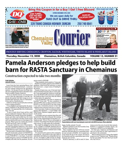Chemainus Valley Courier, November 12, 2020