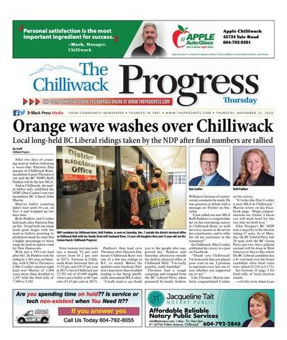 Chilliwack Progress, November 12, 2020
