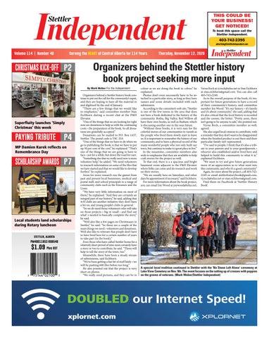 Stettler Independent, November 12, 2020