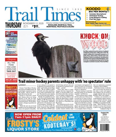Trail Daily Times/West Kootenay Advertiser, November 12, 2020