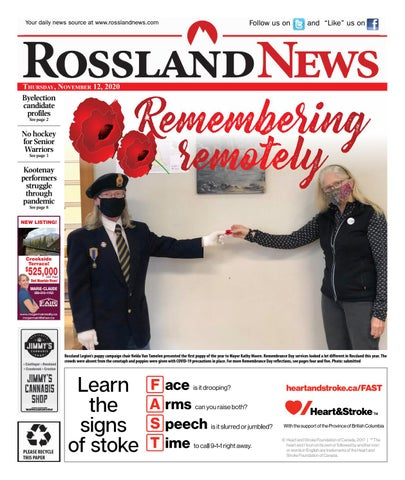 Rossland News/West Kootenay Advertiser, November 12, 2020