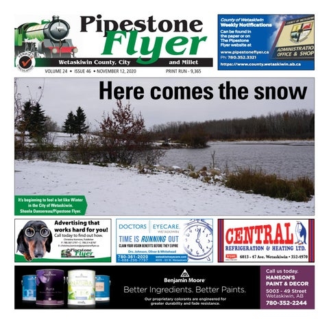Wetaskiwin/Millet Pipestone Flyer, November 12, 2020