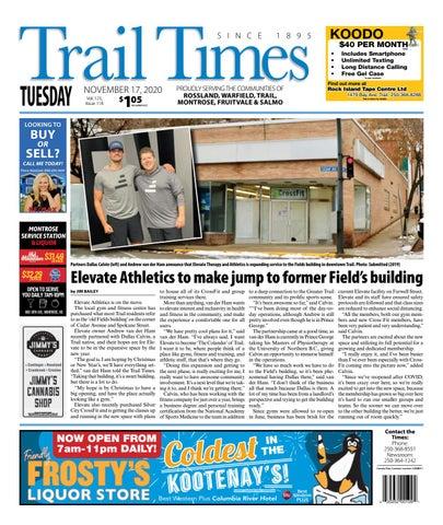 Trail Daily Times/West Kootenay Advertiser, November 17, 2020