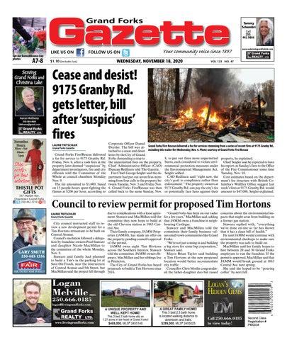 Grand Forks Gazette/West Kootenay Advertiser, November 18, 2020