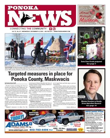 Ponoka News, November 18, 2020