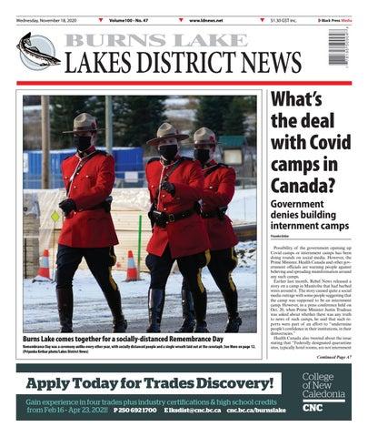 Burns Lake Lakes District News, November 18, 2020