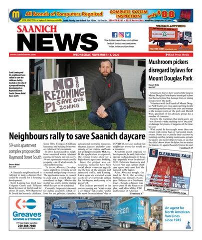 Saanich News, November 18, 2020