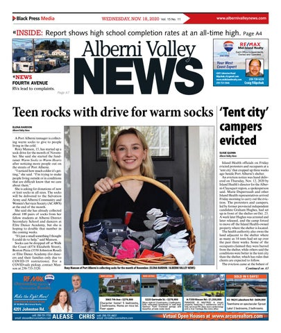 Alberni Valley News, November 18, 2020