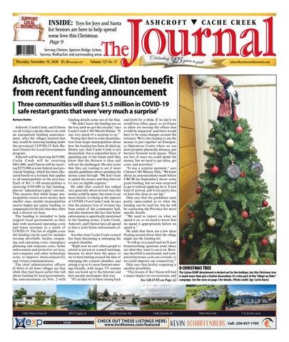 Ashcroft Cache Creek Journal, November 19, 2020