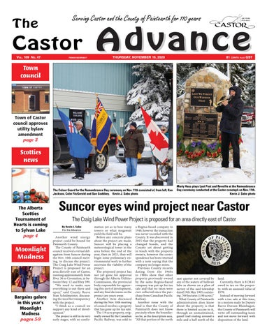 Castor Advance, November 19, 2020