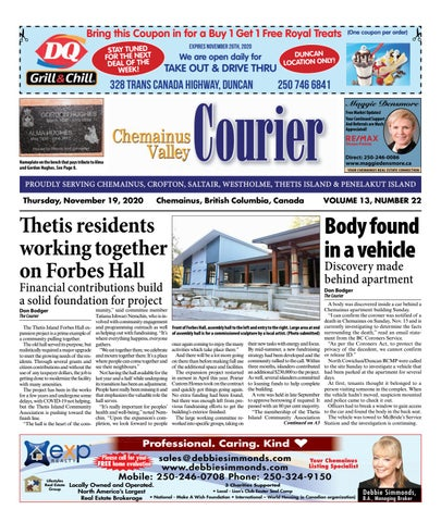 Chemainus Valley Courier, November 19, 2020