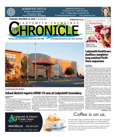 Ladysmith Chronicle, November 19, 2020