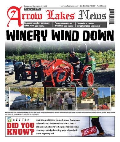 Arrow Lakes News, November 19, 2020