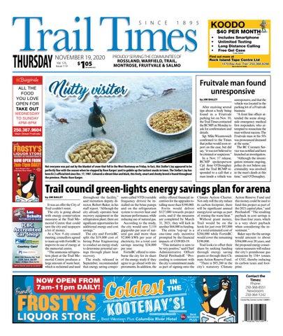 Trail Daily Times/West Kootenay Advertiser, November 19, 2020