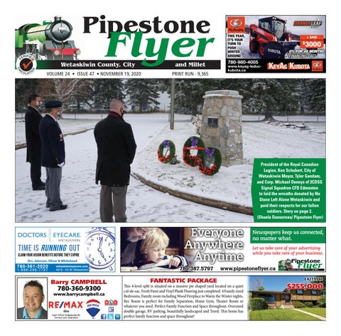 Wetaskiwin/Millet Pipestone Flyer, November 19, 2020