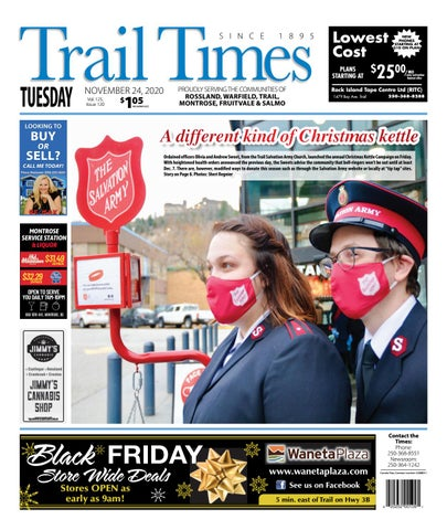 Trail Daily Times/West Kootenay Advertiser, November 24, 2020